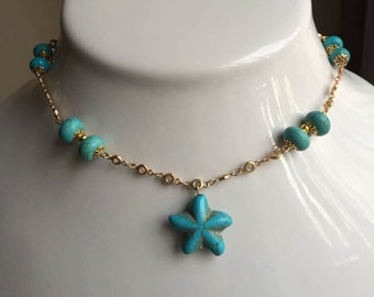 Natural Turquoise Necklace December Birthstone