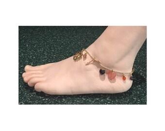 Multi Gemstones Anklet