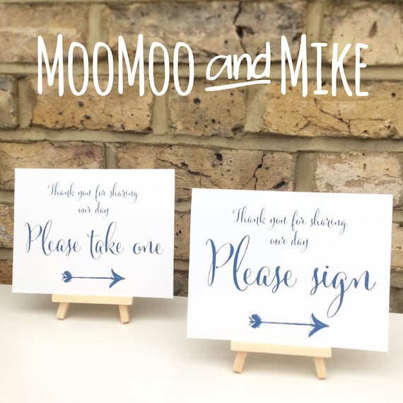 Favour sign comes with small easel to stand on | Add any text | Wedding favour sign | Party favours | Birthday party favours