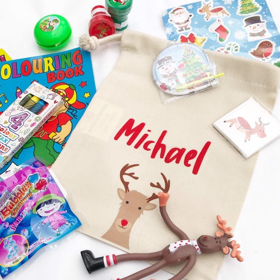 Personalised gift bag | Children's Christmas activity packs | Activity packs | Activity packs for kids | Christmas table activities