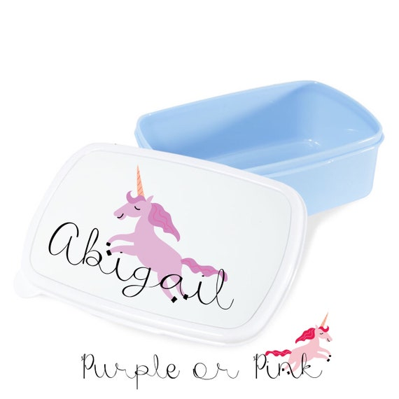 Personalised Unicorn lunch box | Child's lunchbox | Lunch boxes | School lunch box | Back to school gifts | Snack box
