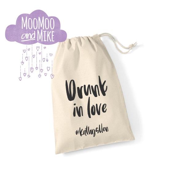 Personalised gift bag | Hangover kit | Gift bags | Add any text | Wedding gift | Drawstring bag.