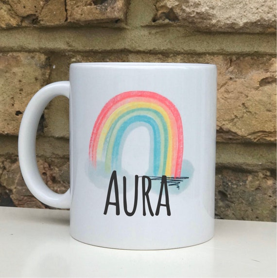 Rainbow personalised mug   Personalised mug   Isolation gift   Rainbow gifts   Quarantine gift   Rainbow mug   Stay at home hero