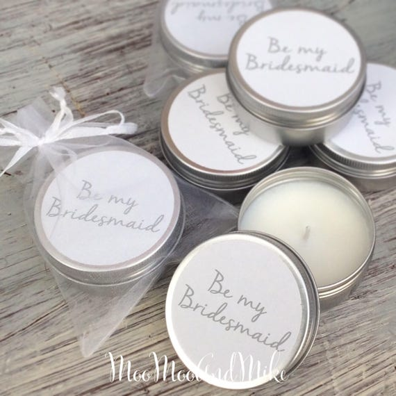 Set of 10 personalised candle Favours - Add any text! Soy Favour Candles Personalised Wedding Favour. Tin 50ml come with organza bag's