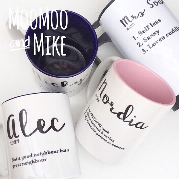 Personalised definition mug | Add any text | Personalised mug | Custom mug | couples mugs | Teacher mug