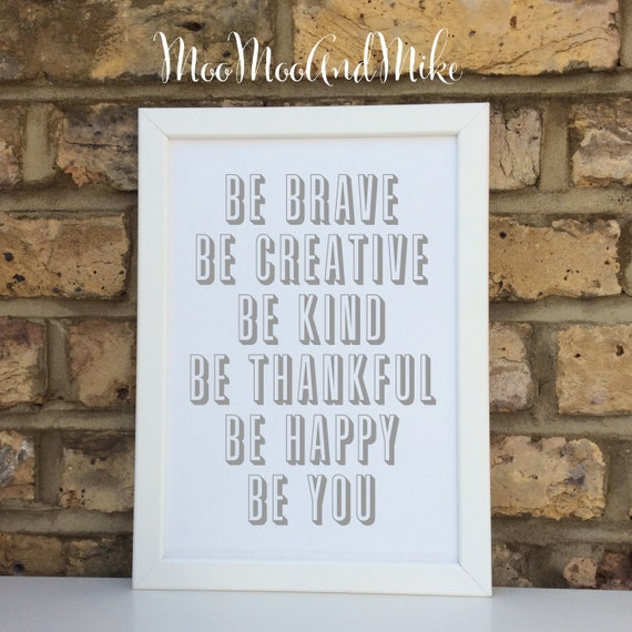 Inspirational quote print | Wall prints | Wall decor | Home decor | Print only | Typography