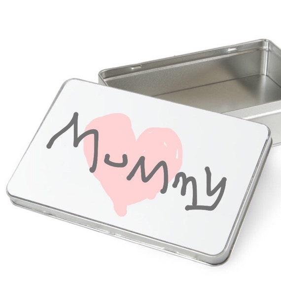 Your childs artwork gift tin | Childrens artwork tin |  Personalised gift box | Keepsake tin | Metal gift box
