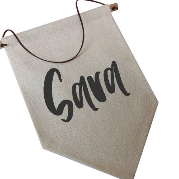 Hanging Pennant | Name Flag Banner Decor | Custom Pennant | Home decor | Personalised Flag