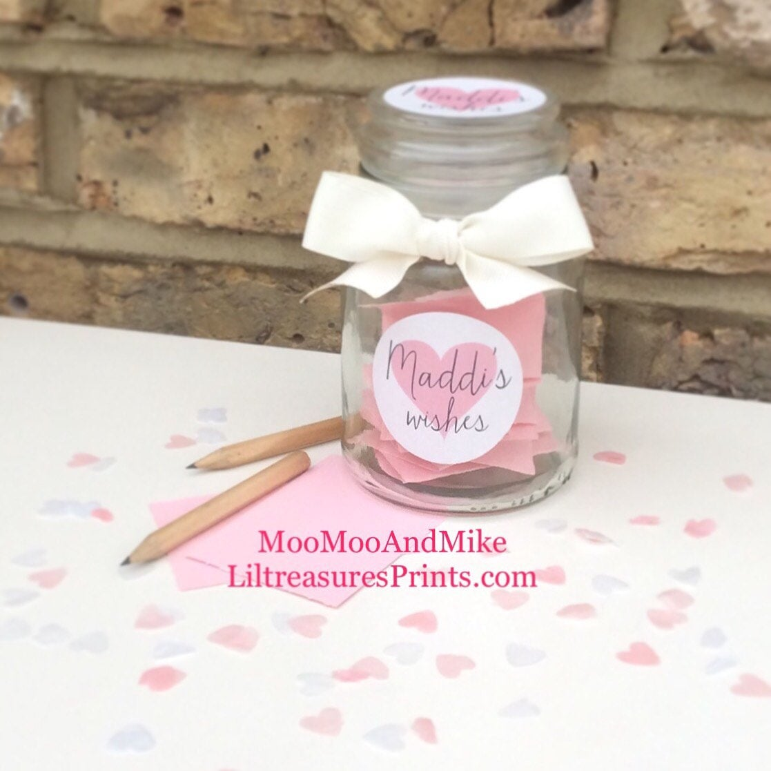 Personalised childrens wish jar | Message in a bottle | Wish jar