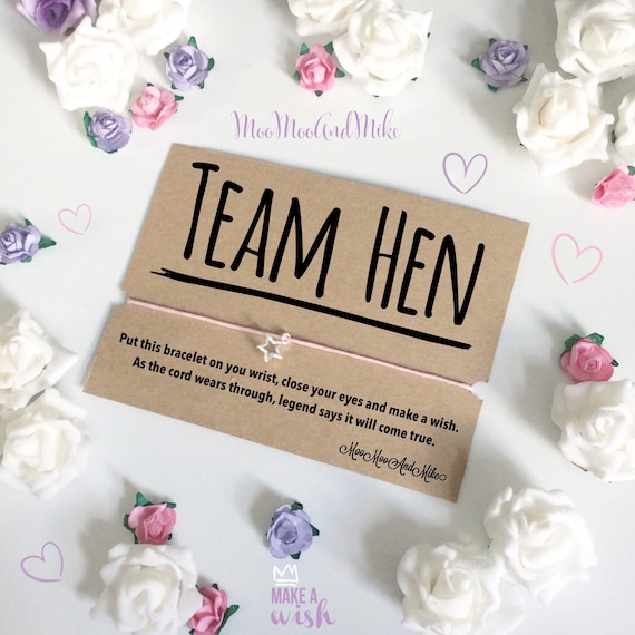 Wish bracelet | Team hen | Wedding wish bracelet's | Can be personalised | Bridesmaid gift | Maid of honour gifts | charm bracelet.