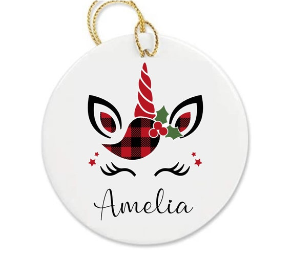Personalised Unicorn bauble - name bauble   Christmas bauble   First Christmas   Christmas decorations   Custom baubles