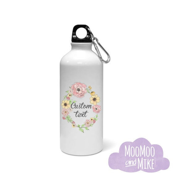 Water bottle | Bridesmaid gift | Aluminium water bottle with two tops | 600ml | Custom water bottle | Hen party gifts