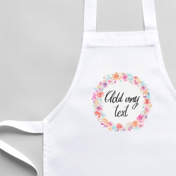 Personalised Apron | White Apron | Kitchenware | Aprons | Custom apron | Cooking gifts | Apron with pocket | Custom made