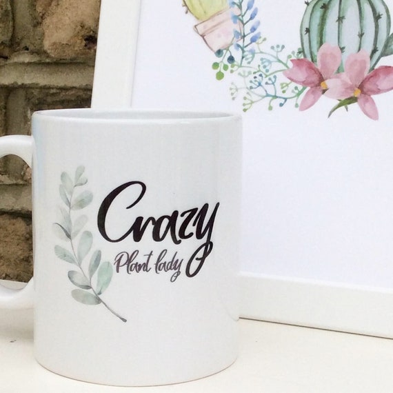 Crazy plant lady | Personalised mug | Custom mug | Plant gifts | Plant lover mug