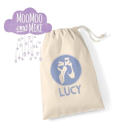 Personalised ballet design gift bag | Dance bag | Ballet shoes | Shoe bag | Ballet design