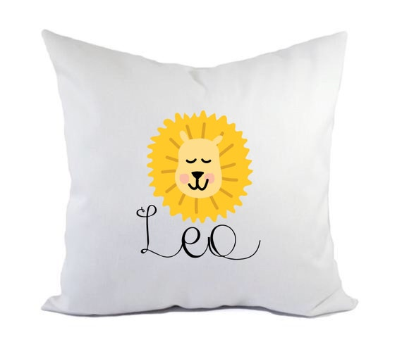 Children's Lion pillow | Decorative cushion cover | Children's cushion | Nursery decor | Personalised pillows | Bedroom decor