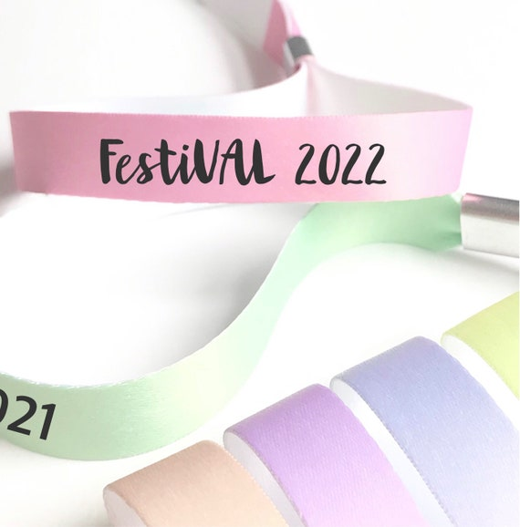 Personalised wristbands   Add any text   Pastel colours  Wedding wristbands   Festival wristbands   Favours