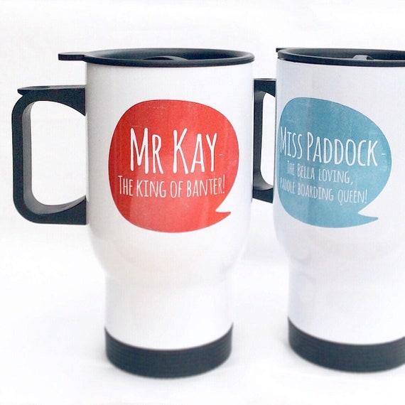 Travel mug | Personalised mug | Any text | 14oz mugs | Custom mug