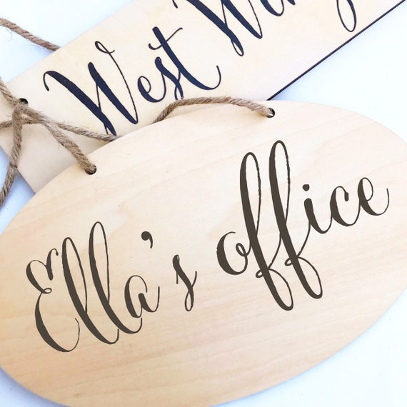 Personalised sign | Add any text | Hanging sign | Kitchen sign | Bedroom sign | Office sign