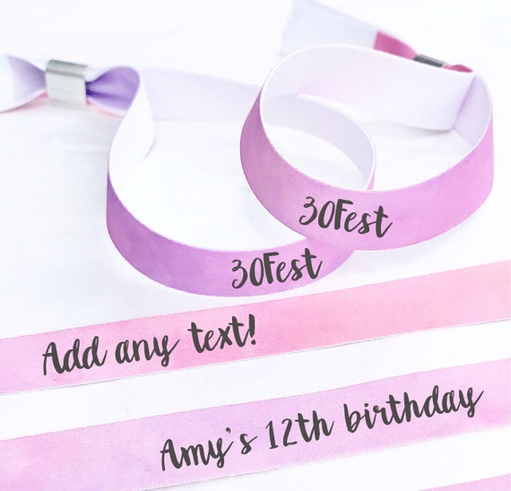 Custom wristbands | Pink & purple wristbands | Add any text | Wedding wristbands  | Team Bride | Party wristband | Hen favours