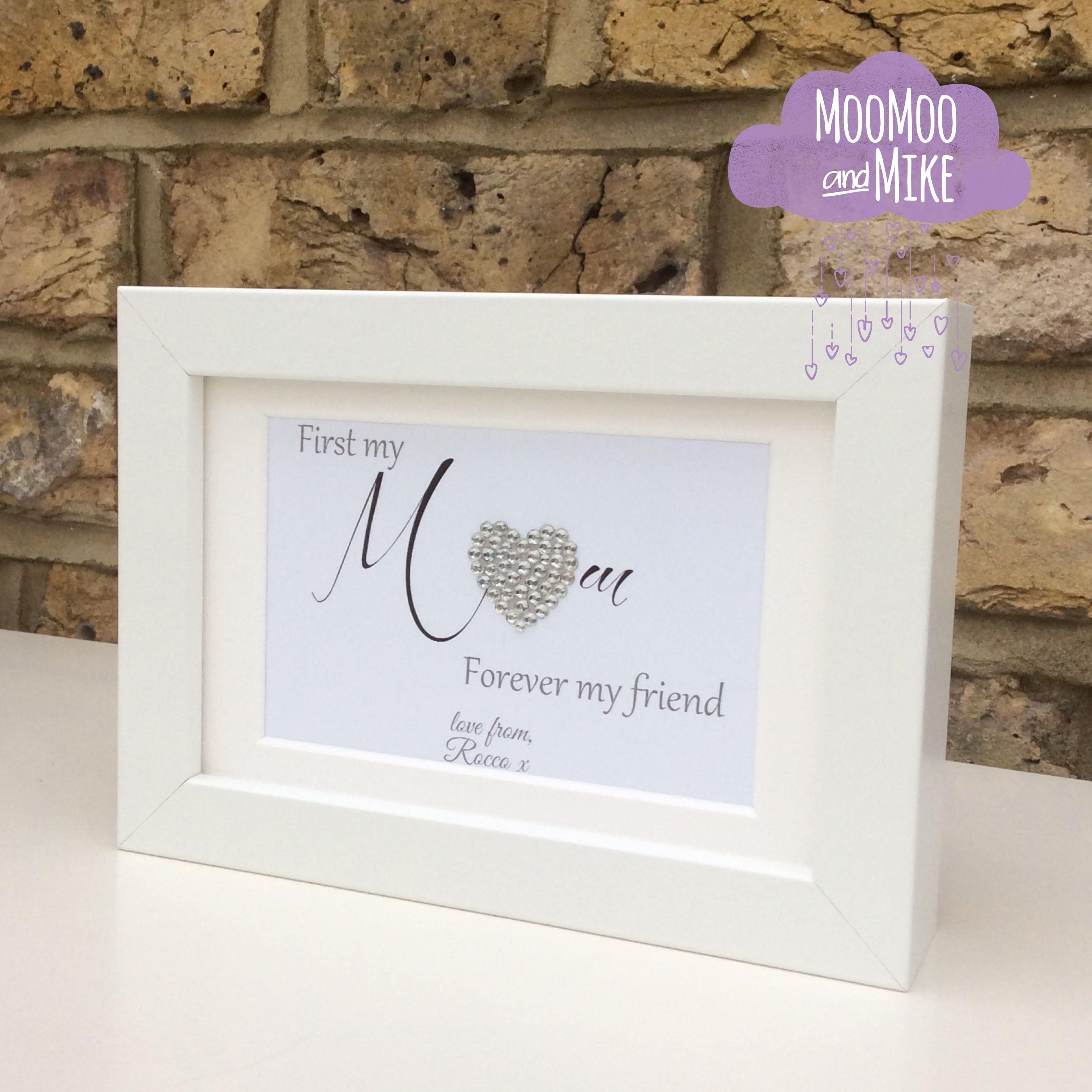 First my mum forever my friend | personalised print | Wall decor ...
