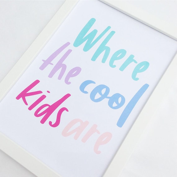 Kids table wedding sign | Children's wedding sign | Wedding signage | Wedding decor | Where the cool kids are wedding sign