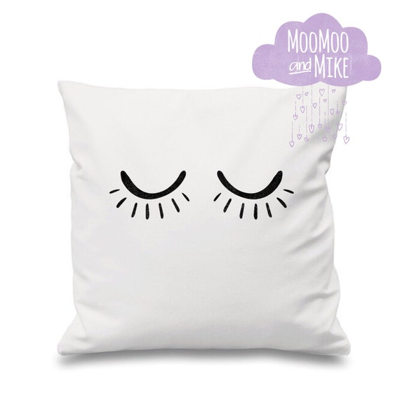 Lashes decorative cushion cover | Personalised pillows | Bedroom decor | Home decor