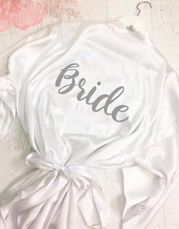 Wedding dressing gown   Kimono robes   Satin robe   Bride robe   Bridal party dressing gown   Bride robe