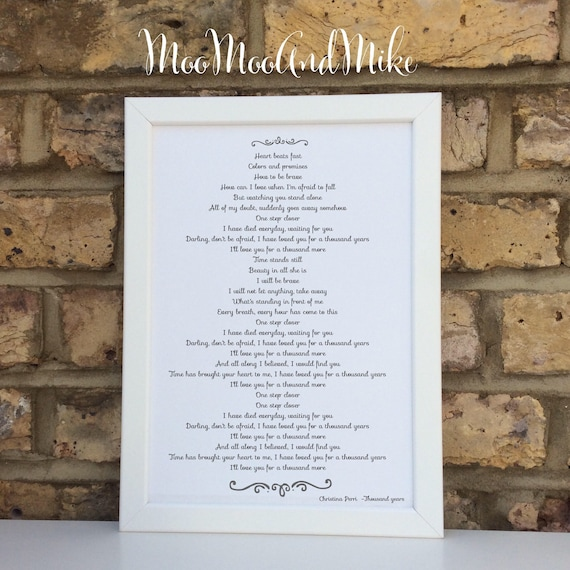 Custom poem print | Add your own poem-Song | Wall prints | Wall decor | Home decor | Print only | Typography