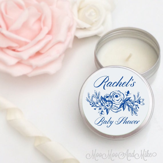 Set of 10 personalised candle Wedding Favours - Soy Favour Candles Personalised Wedding Favour. Tin 50ml come with organza bag's