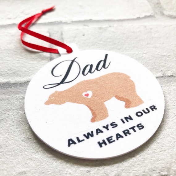 Memorial Christmas Bauble | Any relation | Xmas bauble | Always in our hearts | Christmas decorations | Add text to back