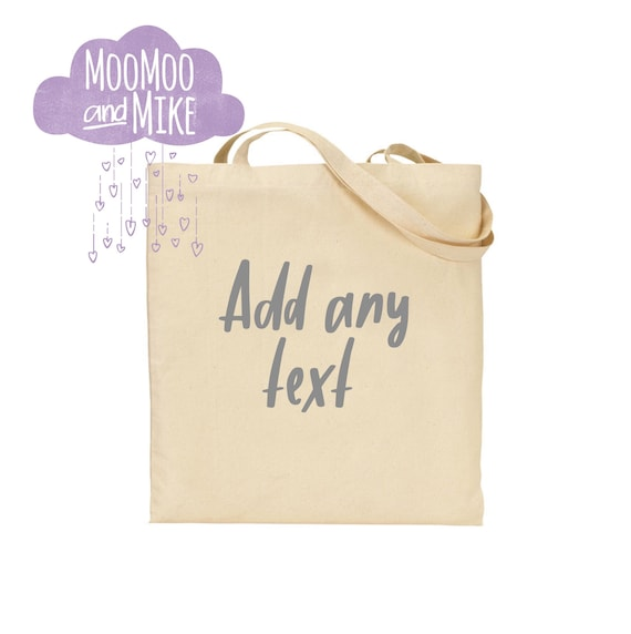 Tote bag | Custom tote | Add any text tote bag | Shopping bags |  bags | Tote