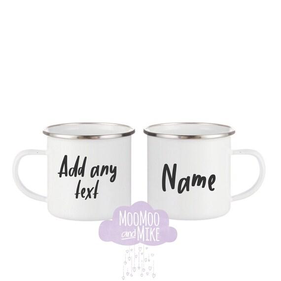 Enamel mug   Wedding gifts   Monogram mug   Camping mug