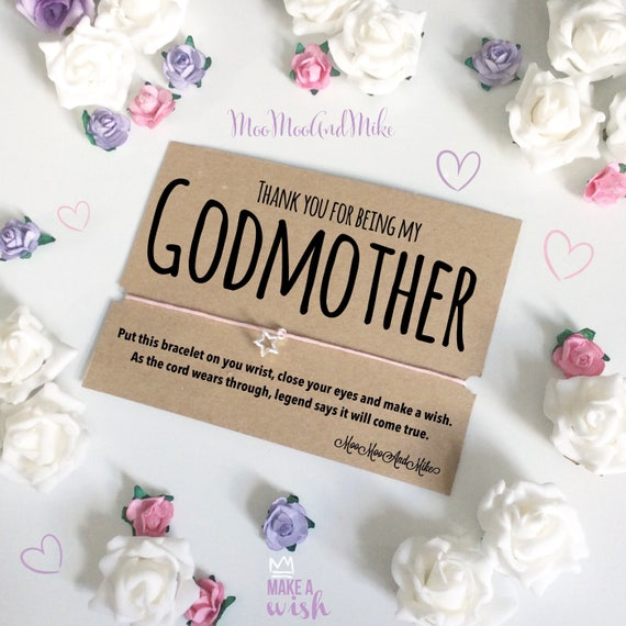 Godmother wish bracelet | Can be personalised | Friendship Bracelet | Wish band | Charm bracelet.