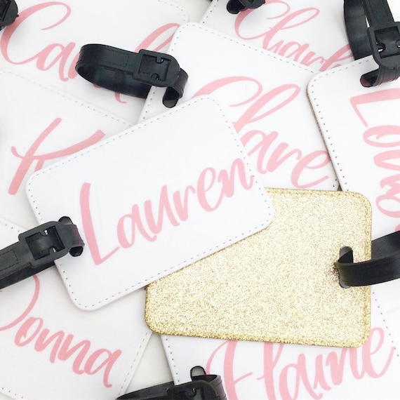 Luggage tag | Personalised Glitter Luggage Tag | Hen party gifts | Add any text | Wedding gifts | Travel Accessories | Personalised tags