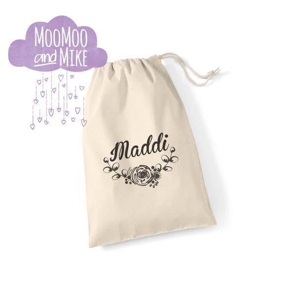 Gift bag | Wedding gift bag | Children's gift bag | Any text | Floral design