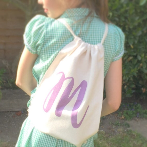 Personalised drawstring bag | Childrens backpack | School bags | P.E bag | Gym bag | Gift bag
