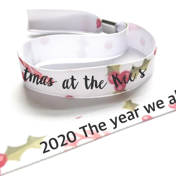 Personalised wristbands | Christmas design | Add any text | Christmas wristbands | Festival wristbands | Christmas decor