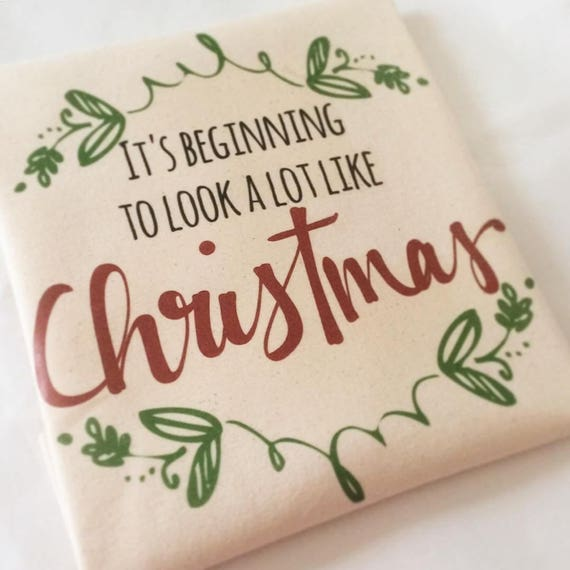 It's beginning to look a lot like christmas | Christmas tote bag | totes | Gift bags.