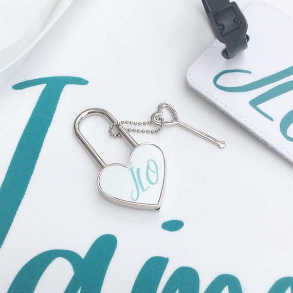 Heart padlock | Personalised padlocks | Add any text | Wedding gifts | Travel Accessories | Personalised locks | Made to order | Love lock
