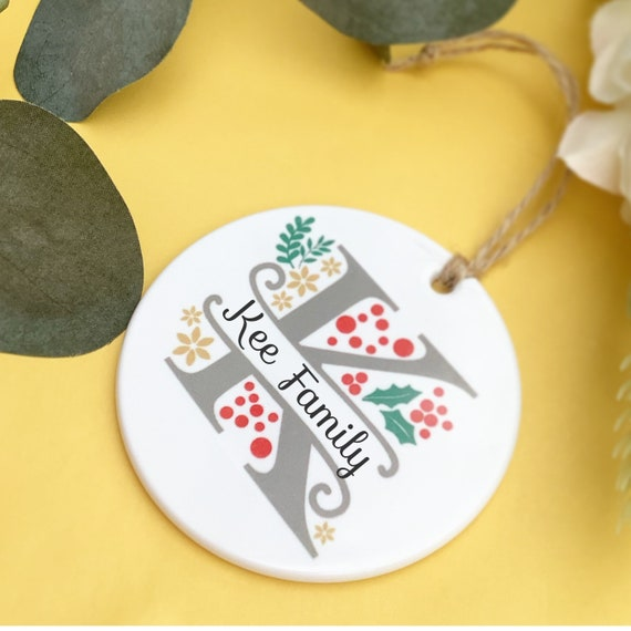 Split Monogram bauble   Christmas 2021 bauble   Christmas decor   Christmas decorations   baubles