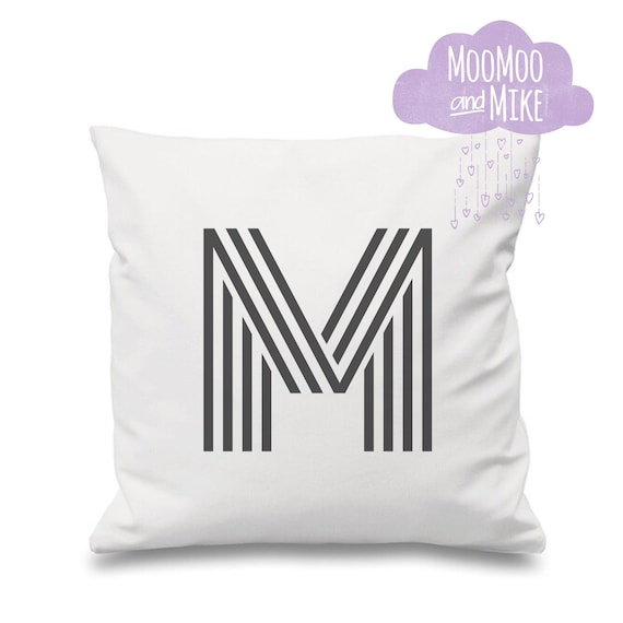 Monogram cushion cover | Personalised pillow | Bedroom decor | Home decor