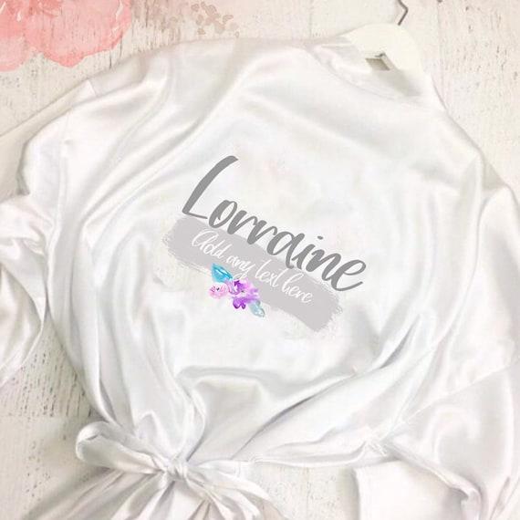 Wedding dressing gown | Kimono robe | Bridal robes | Satin robe | Bride robe | Bridal party dressing gown