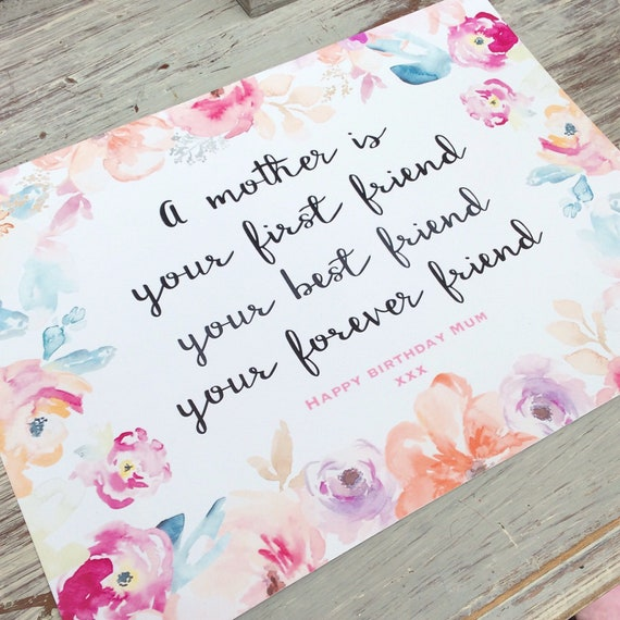 Mother quote print | Custom print | family prints | Wall decor | Home decor | Print only | Typography