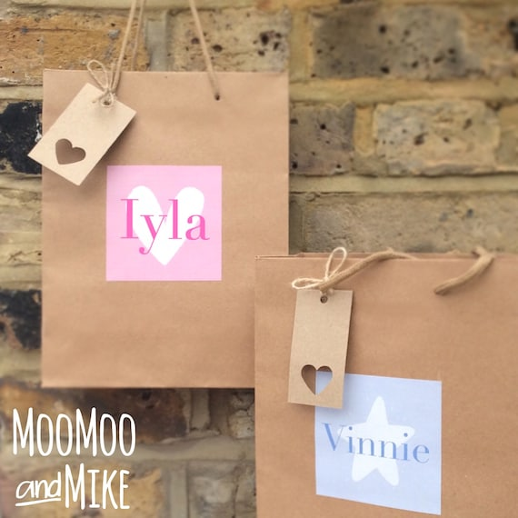 Gift bag | Baby shower gift bag | Wedding gift bags | Add any text