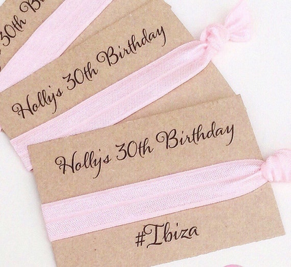 Customisable elastic hair tie | Favours | Personalised favours