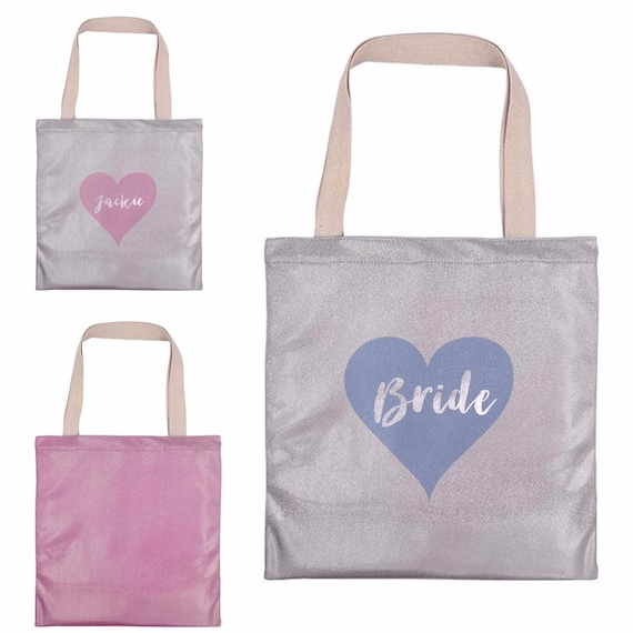Sparkling tote bag | Personalised tote bags | Hen party | Gift bags | Totes | Gym bag | Glitter rainbow totes