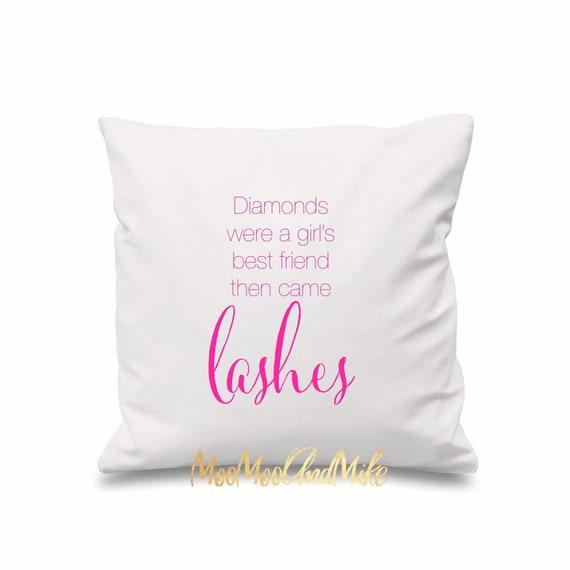 Diamonds were a girl's best friend cushion cover | Decorative cushion cover | lash decor | Bedroom decor | Home decor
