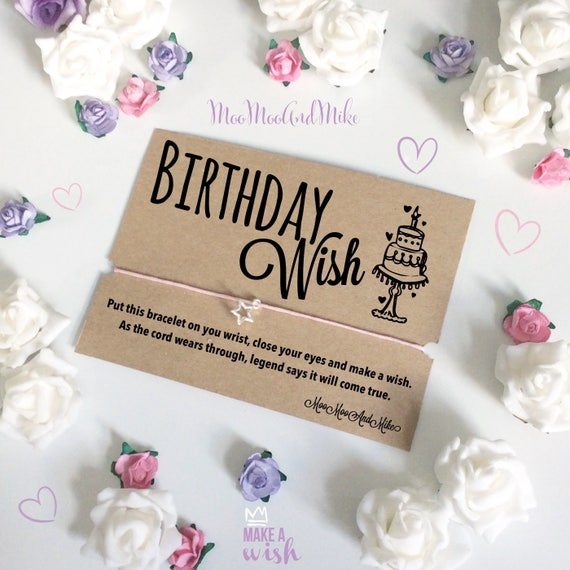 Wish bracelet | Happy birthday Wish bracelet | Can be personalised | Friendship Bracelet | Wish band | Charm bracelet.