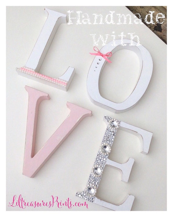 Free standing Love sign | Embellished letters | Handmade letters | Home signs.
